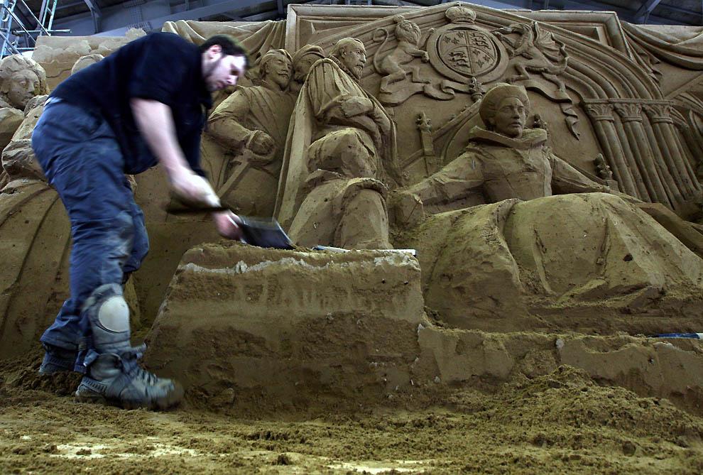 928 Выставка песочных скульптур на дюне Тоттори