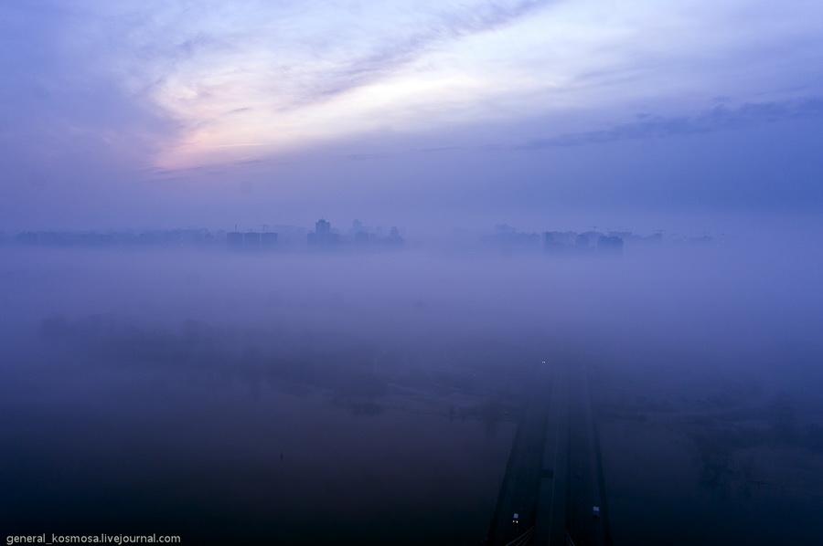 bridge10 Туманный рассвет над Киевом на высоте 136 метров