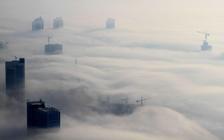 cotton wool 2183478k Дубай, окутанный туманом