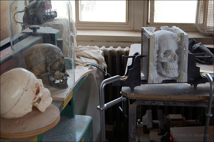 sculpture made out of books 4 Бумажный череп от канадского дизайнера MASKULL LASSERRE