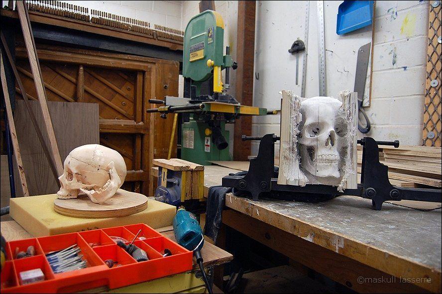 sculpture made out of books 6 Бумажный череп от канадского дизайнера MASKULL LASSERRE