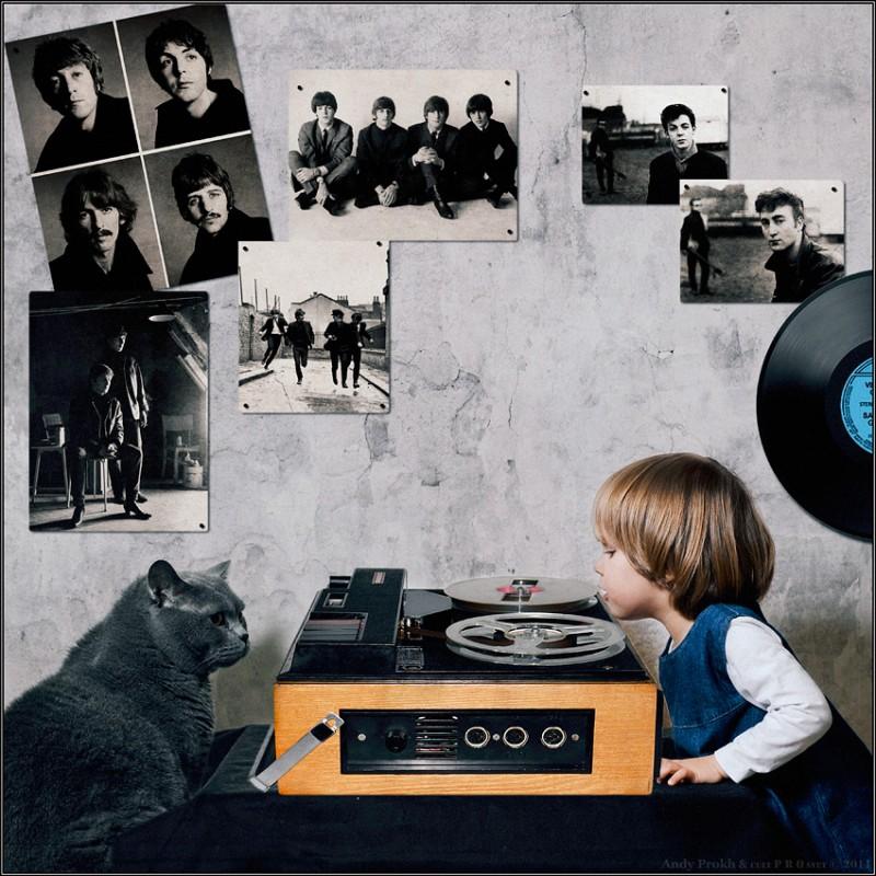 yesterday 800x800 Маленькая девочка и кот Том
