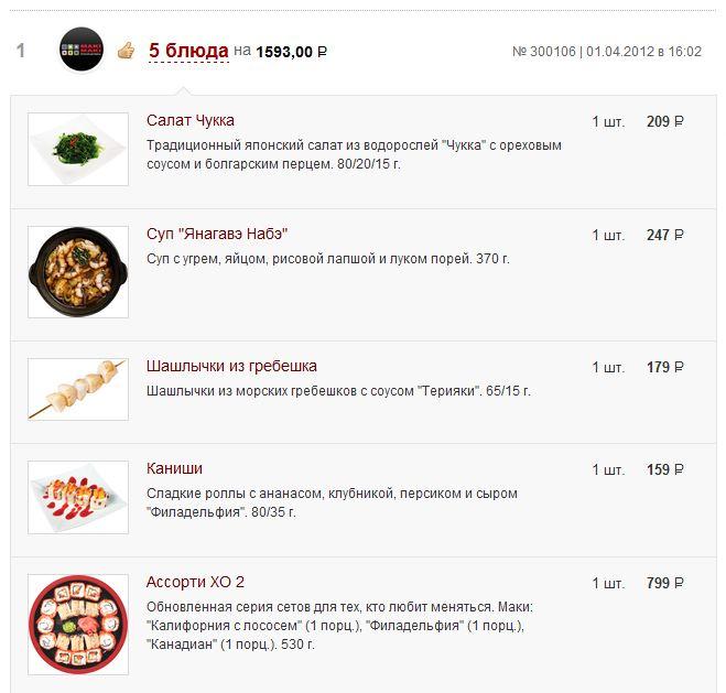 zakaz Вся правда о доставке еды: Ресторан Маки Маки
