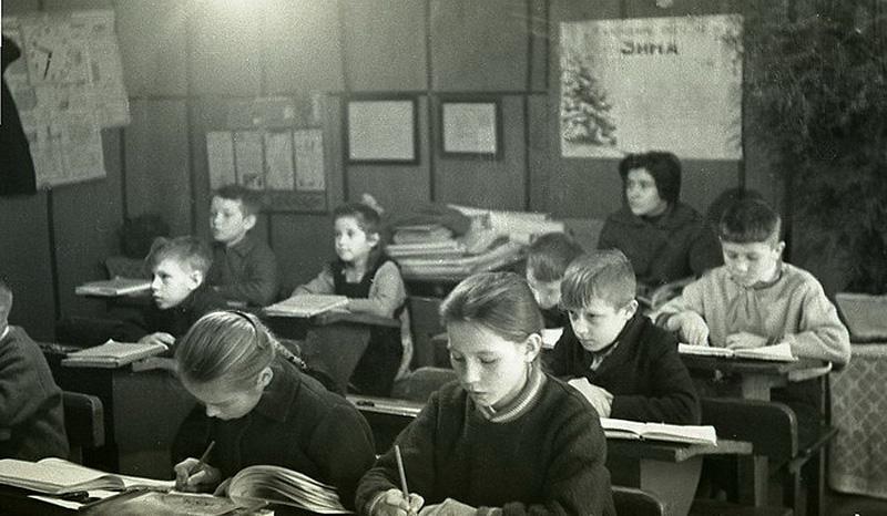 1277 Школа в советской деревне 1964 год