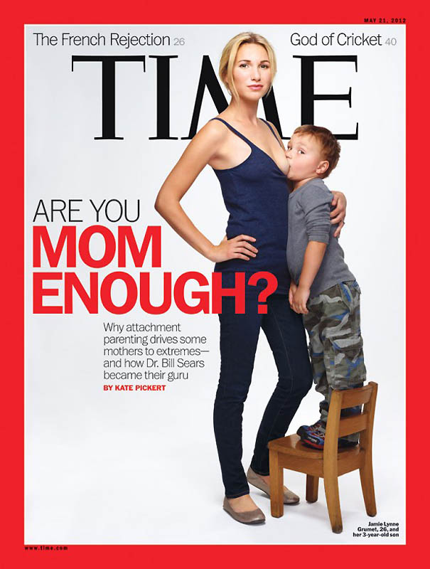 Журнал Time шокировал публику обложкой с кормящей матерью