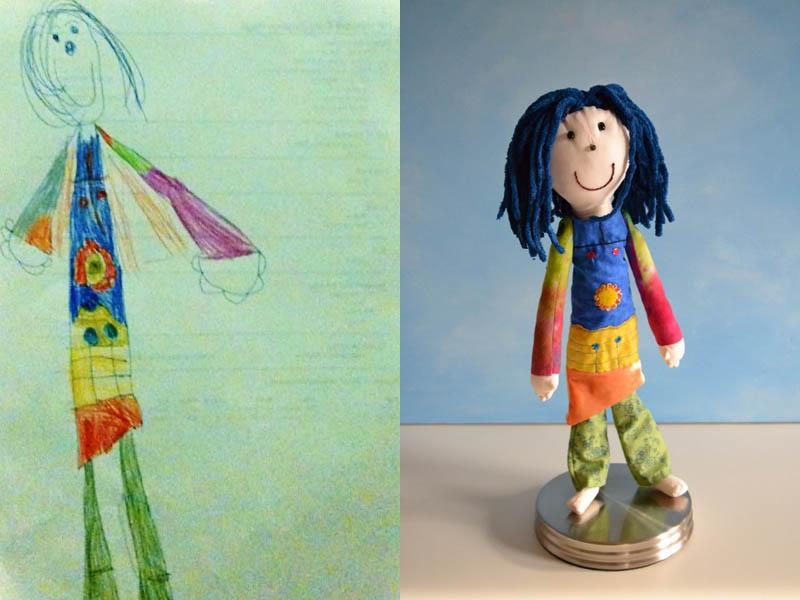 Дети в лет рисуют куклы