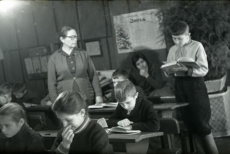 1652 Школа в советской деревне 1964 год