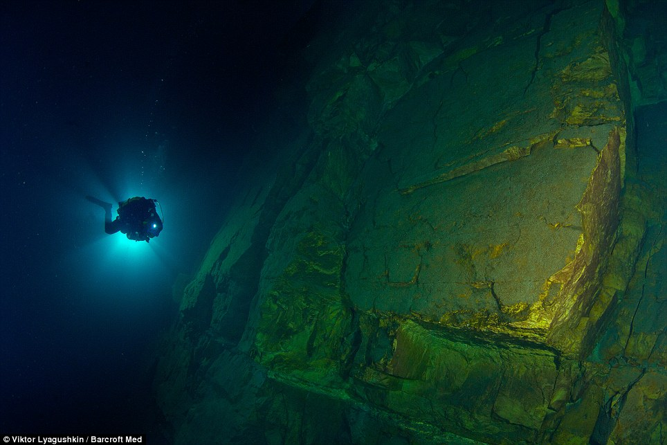 556 Голубое озеро   неизведанный подводный мир