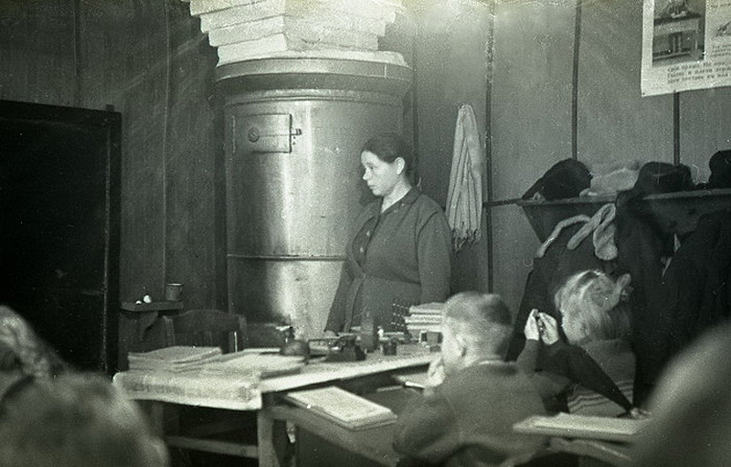 595 Школа в советской деревне 1964 год