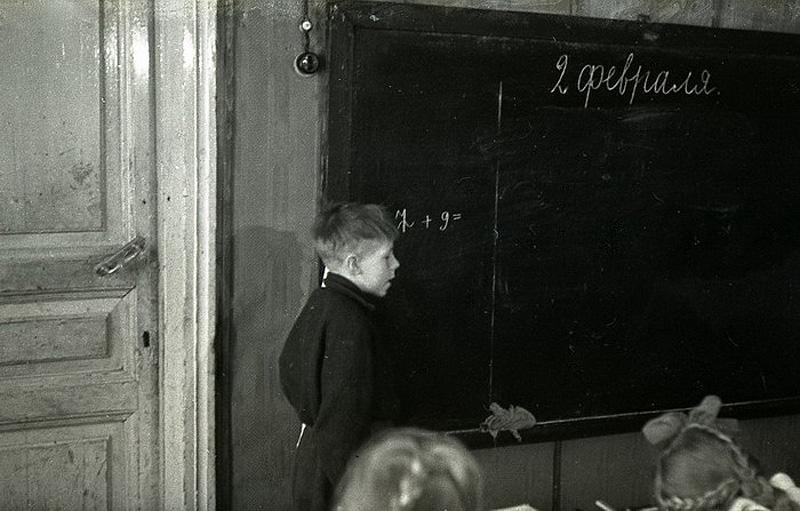 689 Школа в советской деревне 1964 год