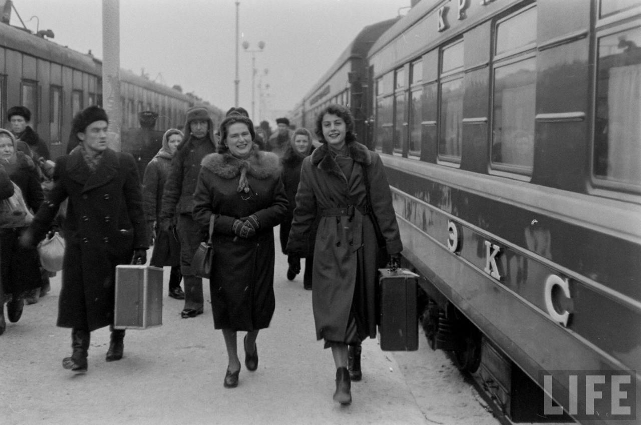 amer02 Американские туристы в Ленинграде зимой 1955 1956 гг.