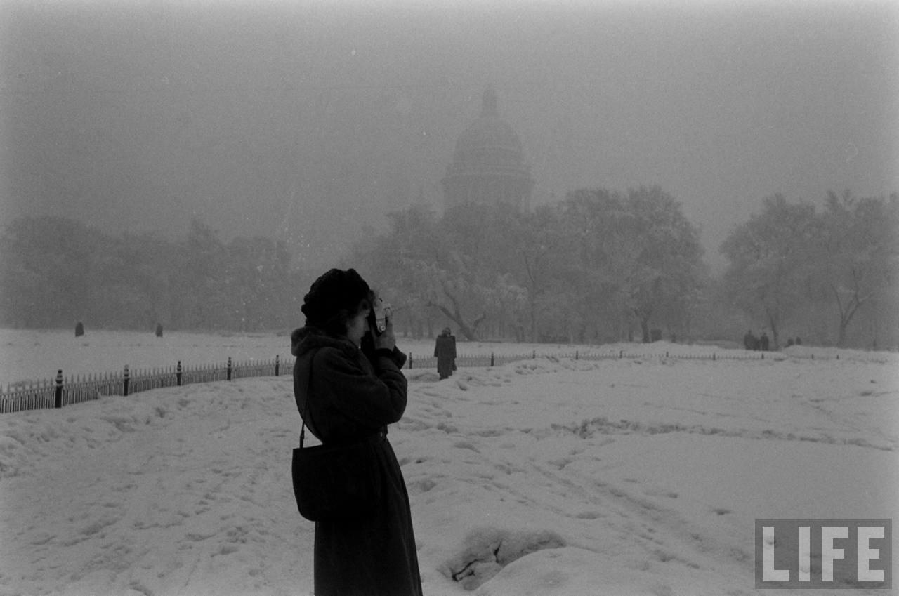 amer12 Американские туристы в Ленинграде зимой 1955 1956 гг.