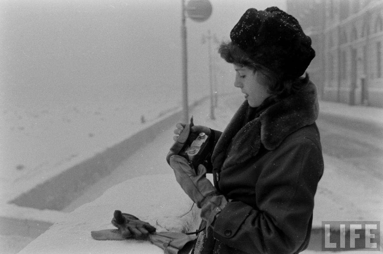 amer13 Американские туристы в Ленинграде зимой 1955 1956 гг.