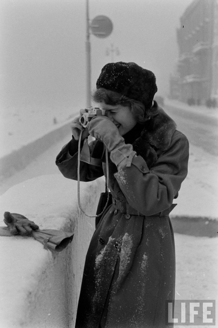 amer14 Американские туристы в Ленинграде зимой 1955 1956 гг.