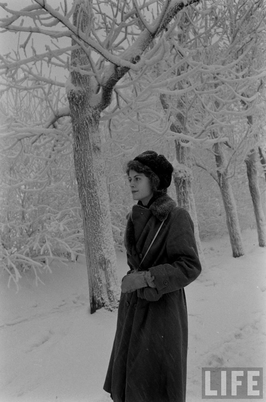 amer15 Американские туристы в Ленинграде зимой 1955 1956 гг.