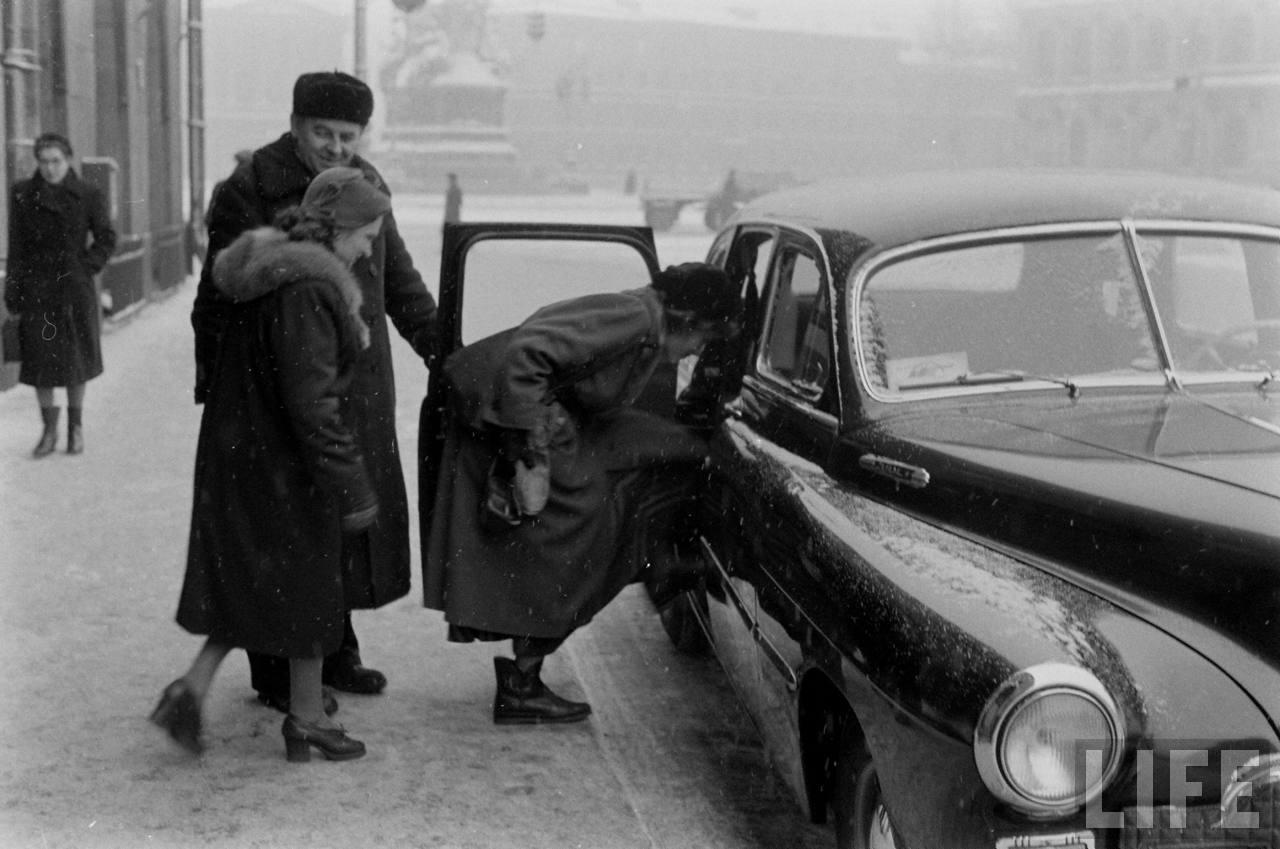 amer26 Американские туристы в Ленинграде зимой 1955 1956 гг.