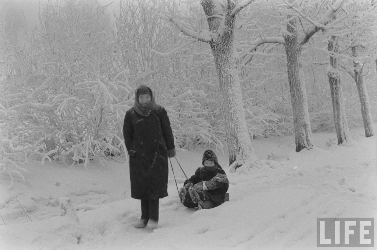 amer33 Американские туристы в Ленинграде зимой 1955 1956 гг.