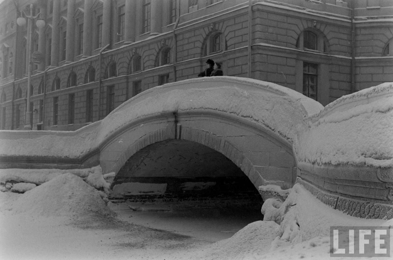 amer41 Американские туристы в Ленинграде зимой 1955 1956 гг.