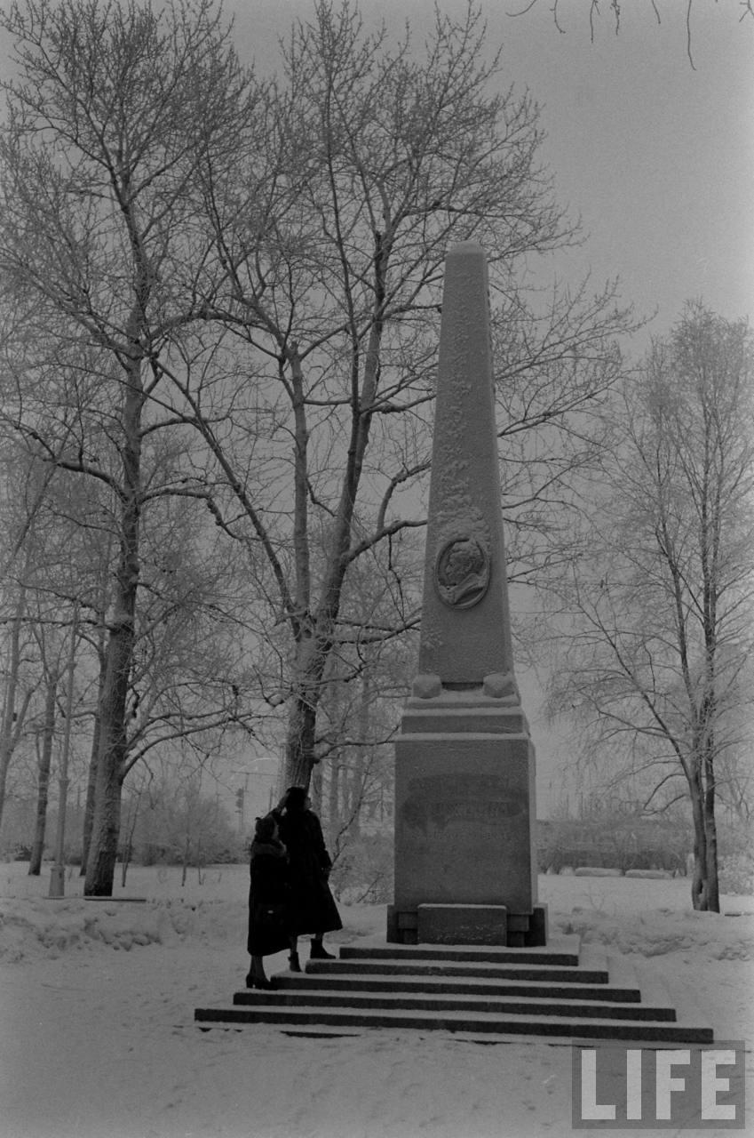 amer43 Американские туристы в Ленинграде зимой 1955 1956 гг.
