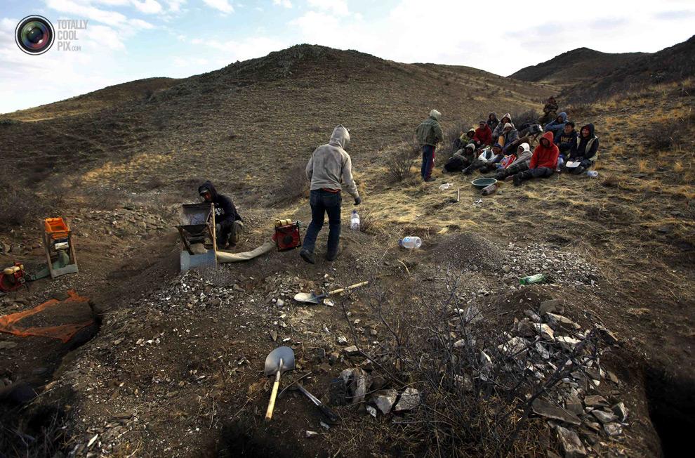mongolia 022 Шахтеры ниндзя: Добыча золота в Монголии