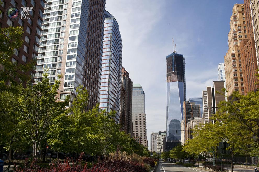 oneworldtrade 029 Строительство Всемирного торгового центра 1 в Нью Йорке