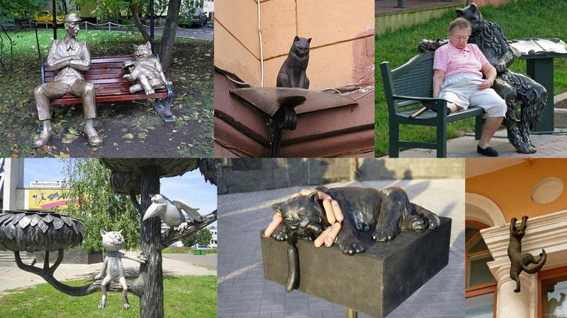 памятники кошкам Скульптуры и памятники кошкам