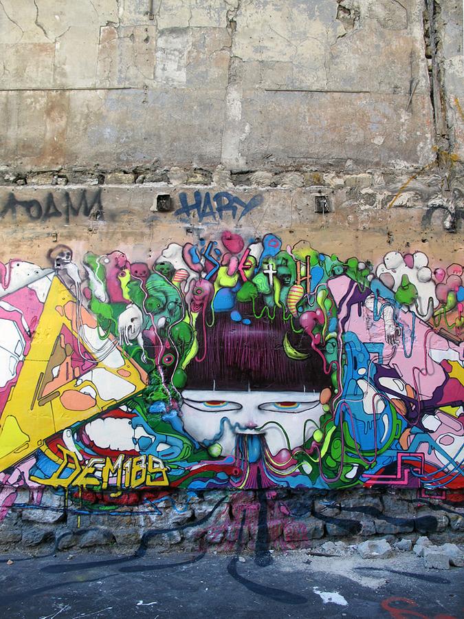 0 272 Уличные рисунки арт хулигана Seth