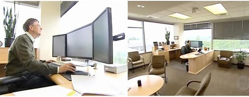 0 45 Так выглядят рабочие столы Джобса, Гейтса, Баллмера, Цукерберга и других