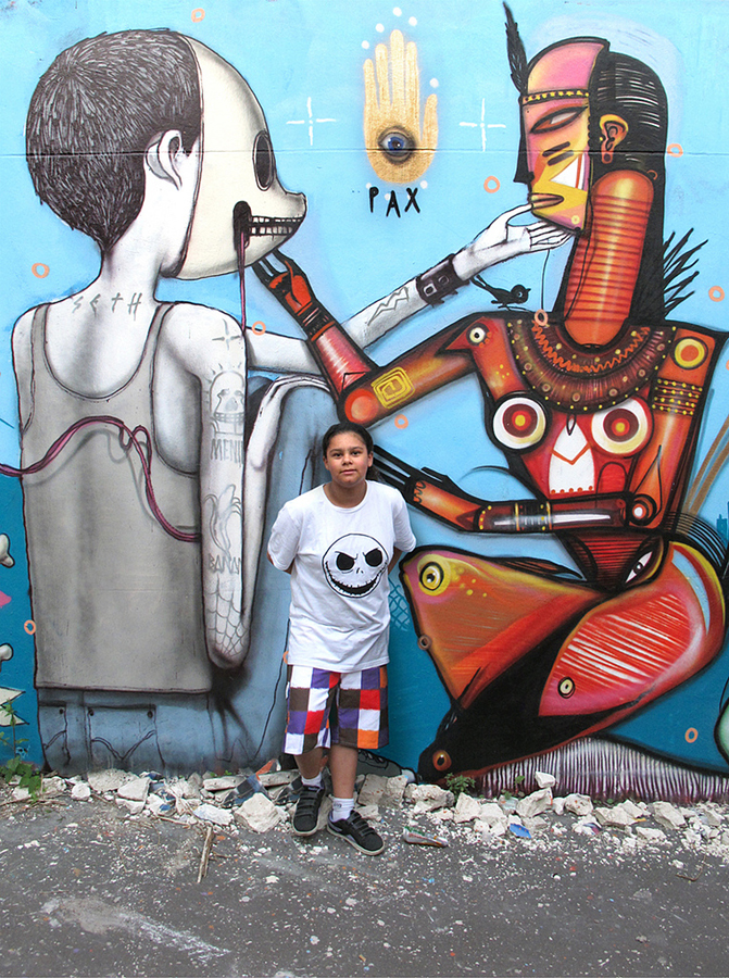 0 54 Уличные рисунки арт хулигана Seth