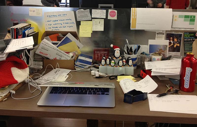 0 85 Так выглядят рабочие столы Джобса, Гейтса, Баллмера, Цукерберга и других