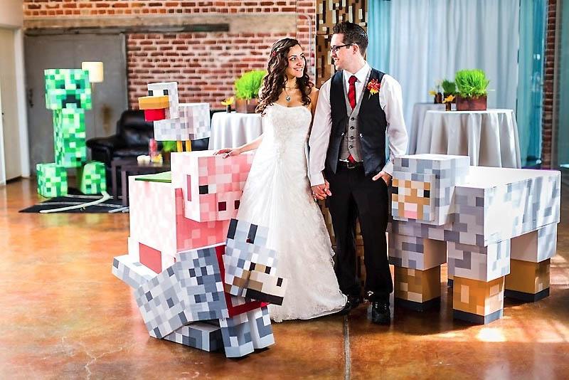 112 Свадьба в стиле игры Minecraft