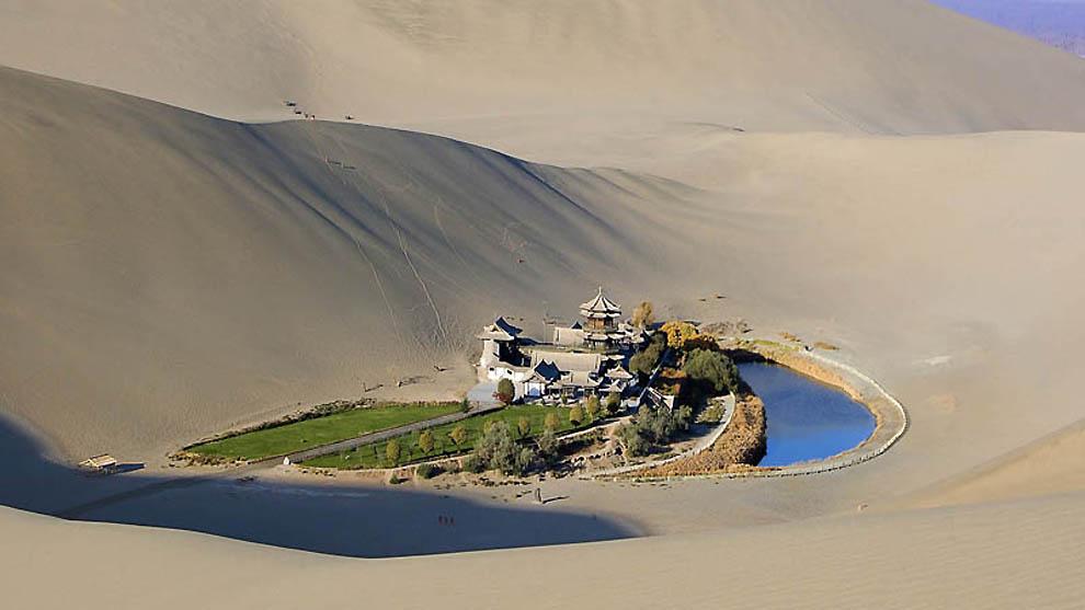 114 Озеро полумесяц   китайский оазис в пустыне