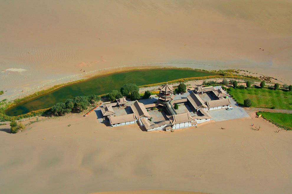 115 Озеро полумесяц   китайский оазис в пустыне