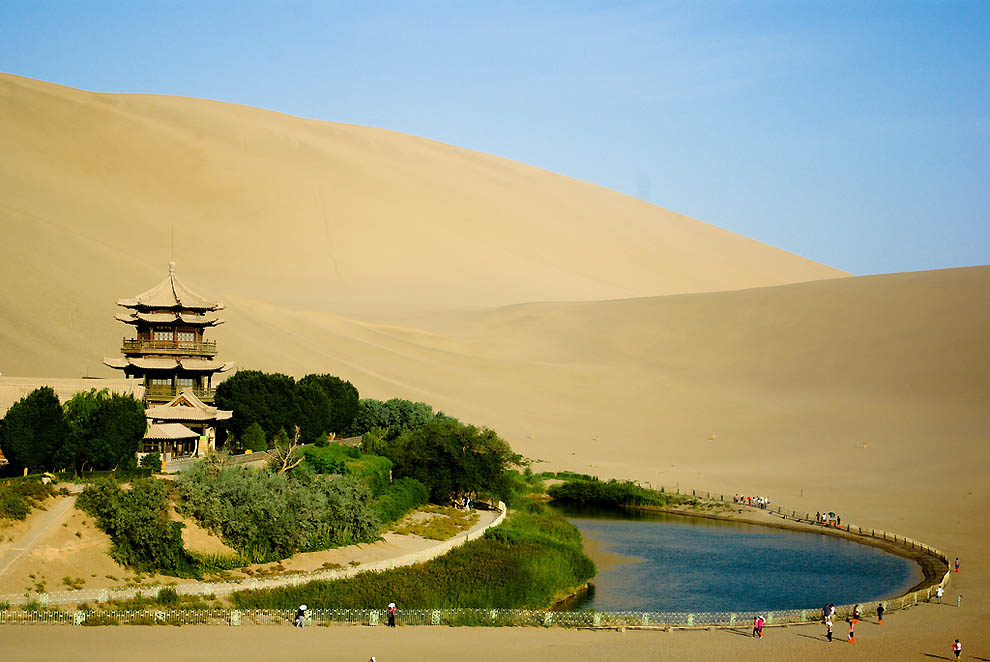 123 Озеро полумесяц   китайский оазис в пустыне