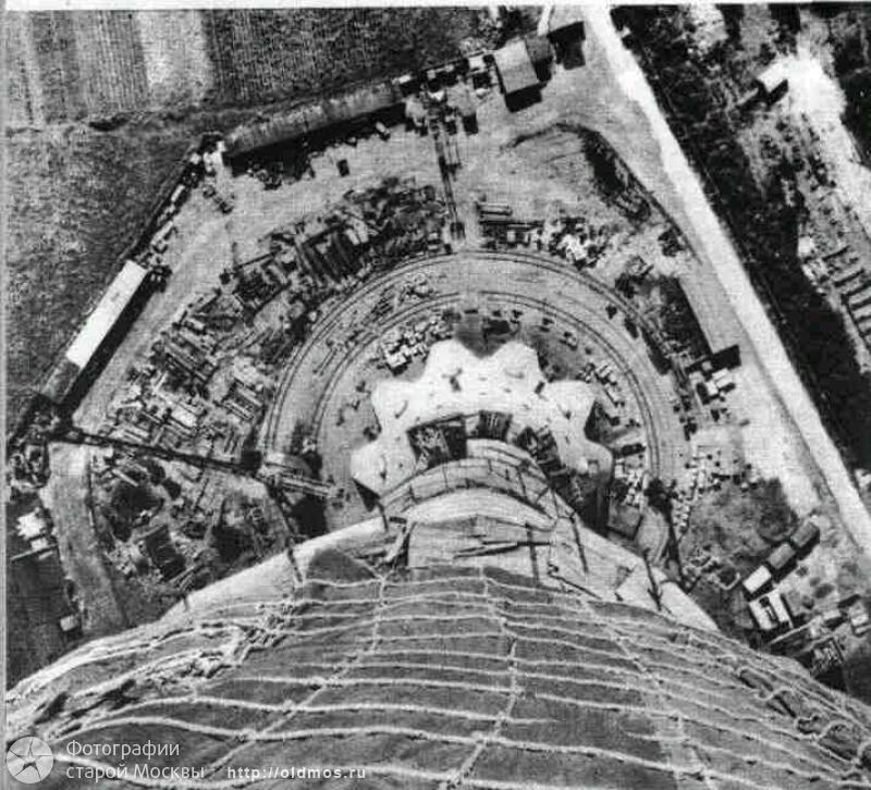 1431 18 кадров о том, как строили Останкинскую башню