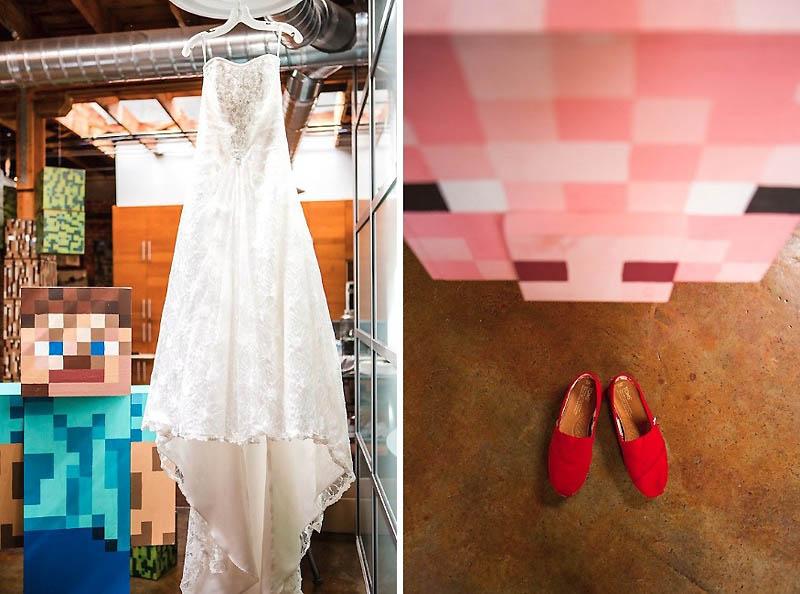 152 Свадьба в стиле игры Minecraft