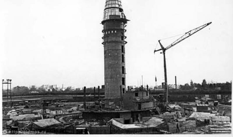 1529 18 кадров о том, как строили Останкинскую башню