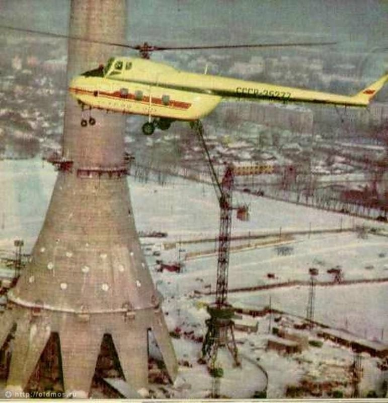1728 18 кадров о том, как строили Останкинскую башню