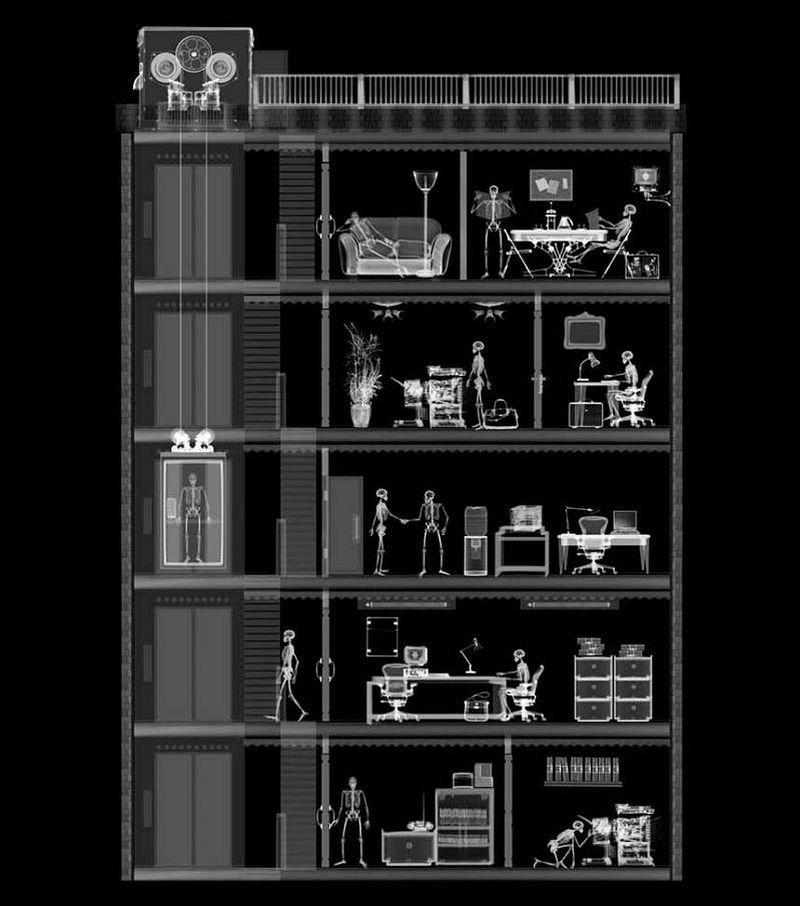 2Административное здание Рентгеновский взгляд на мир Ника Визи