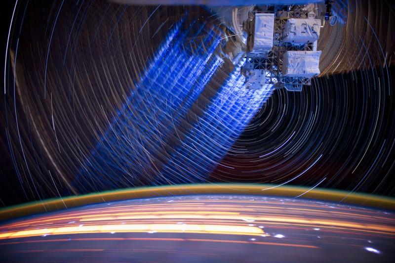 2139 800x532 Звездные следы   фото с МКС