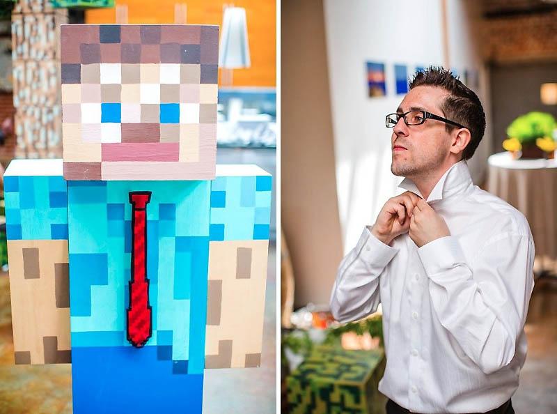 251 Свадьба в стиле игры Minecraft