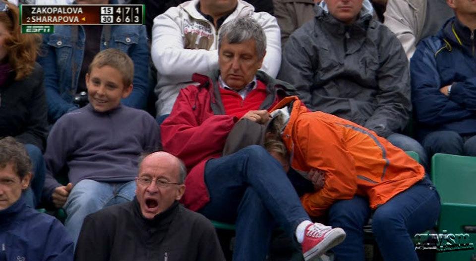 2518 Смешные лица открытого теннисного турнира Ролан Гаррос