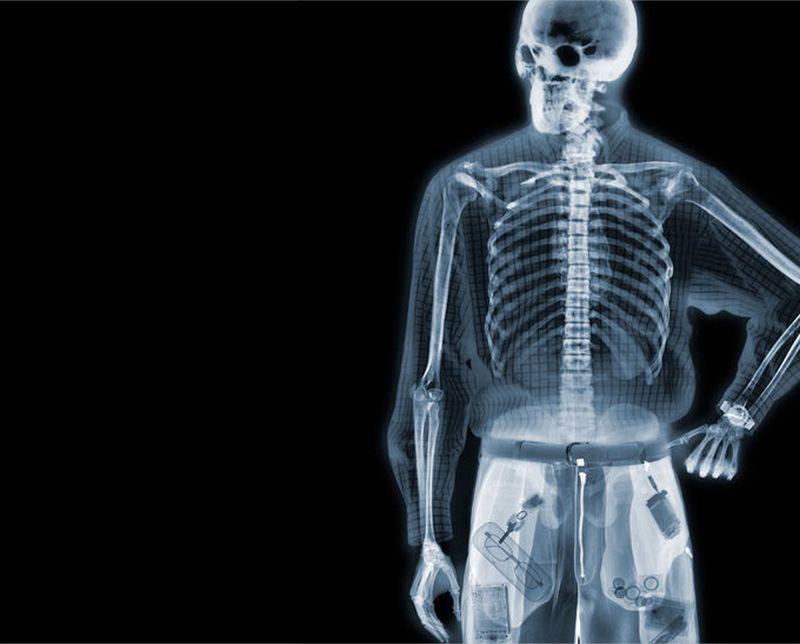 3Одетый человек Рентгеновский взгляд на мир Ника Визи