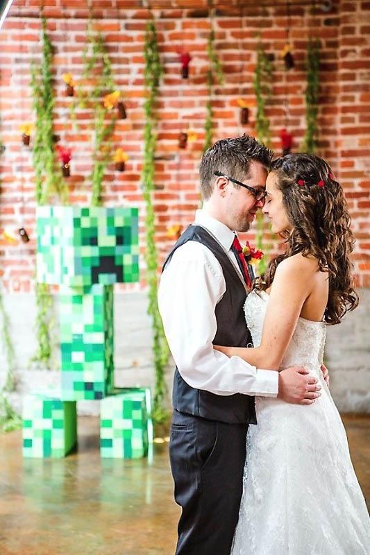 38 Свадьба в стиле игры Minecraft
