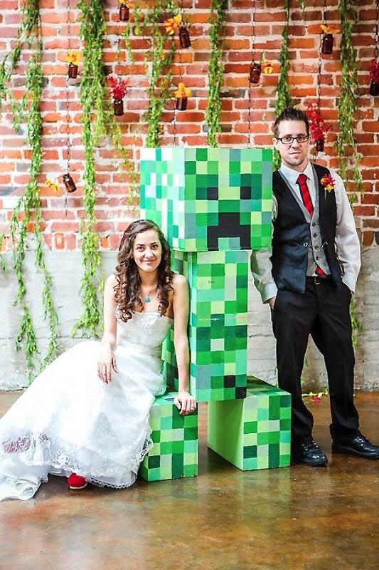 39 Свадьба в стиле игры Minecraft
