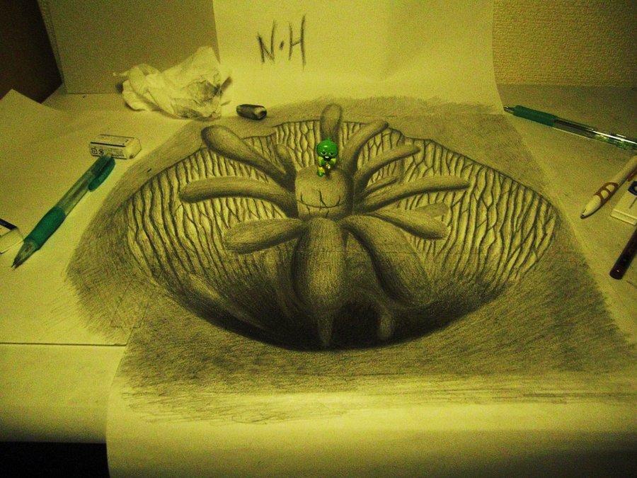 3D 13 Умопомрачительные 3D рисунки на двух листах бумаги