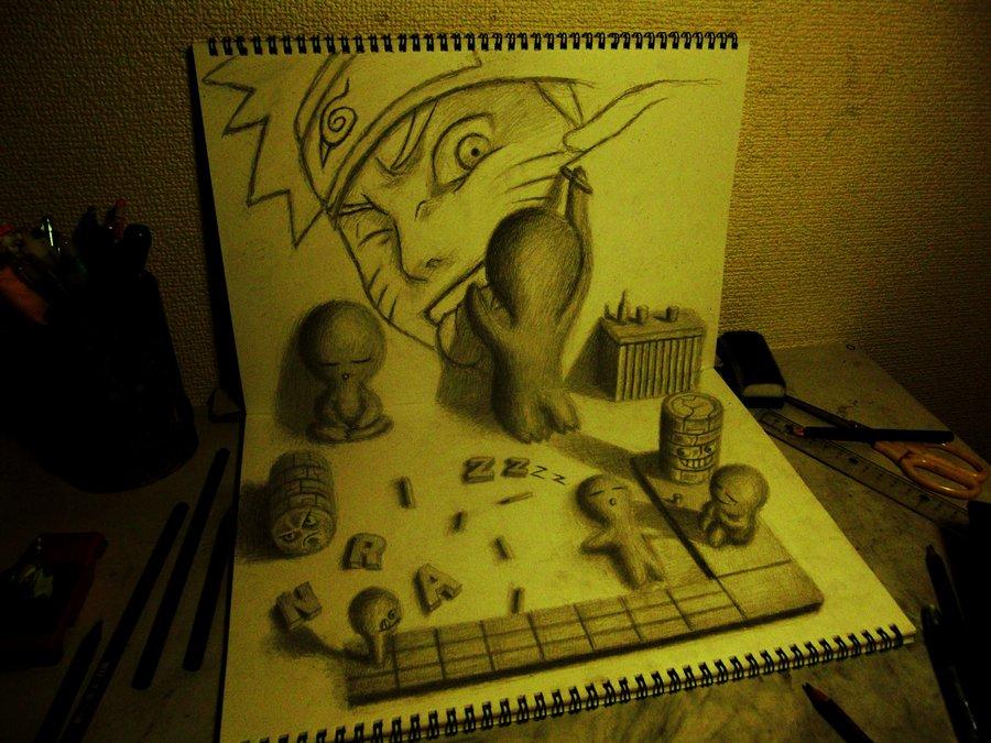 3D 14 Умопомрачительные 3D рисунки на двух листах бумаги