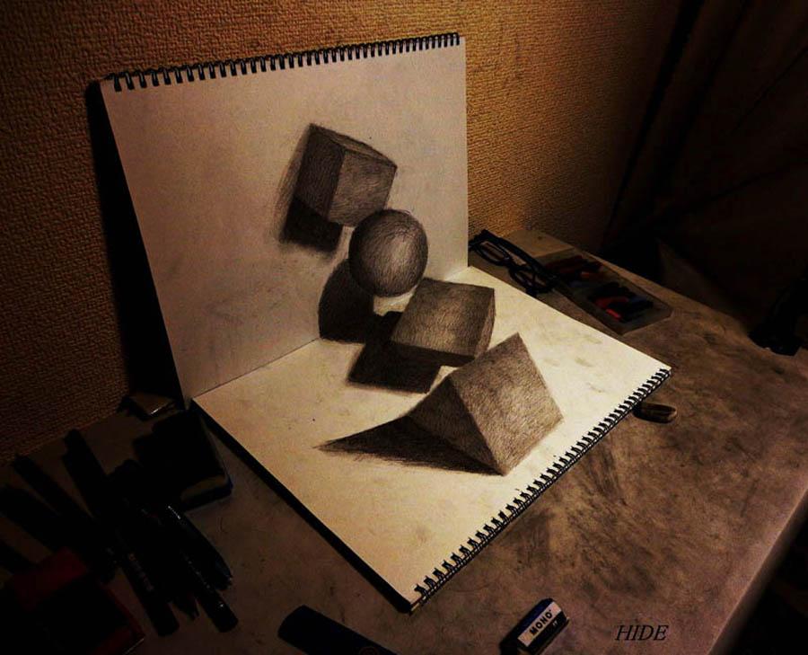 3D 5 Умопомрачительные 3D рисунки на двух листах бумаги
