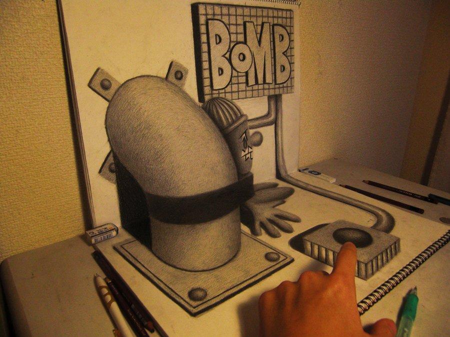 3D 7 Умопомрачительные 3D рисунки на двух листах бумаги