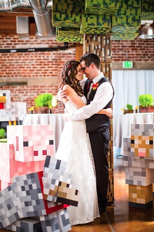 40 Свадьба в стиле игры Minecraft